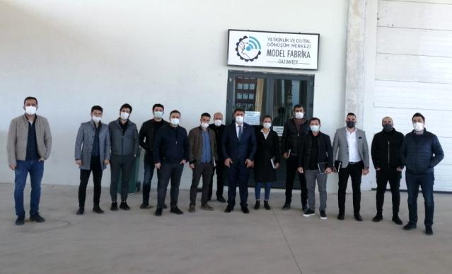 Gaziantep'te firmalara model Fabrikanın çalışmaları anlatıldı